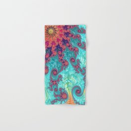 Rainbow Fractal Hand & Bath Towel