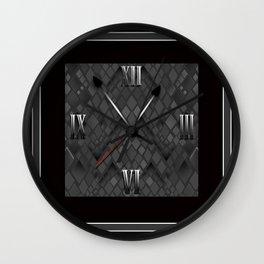Watch. Black and white pattern . Wall Clock