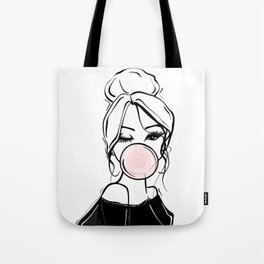 Bubble Gum Wink Tote Bag