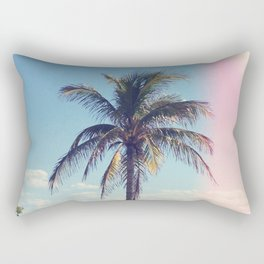 Palm Tree Light Leak Color Nature Photography Rectangular Pillow