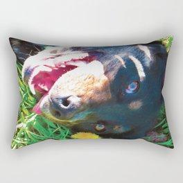 Dog Tanning Rectangular Pillow