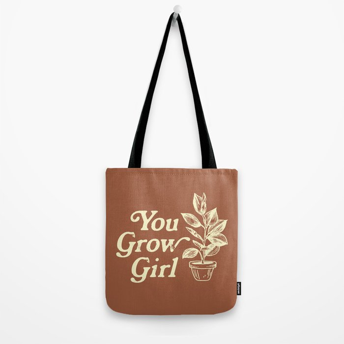 You Grow Girl Vintage Tote Bag