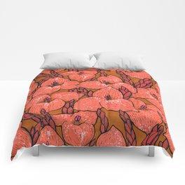 Coral Puya Flowers Botanical Floral Pattern Comforters