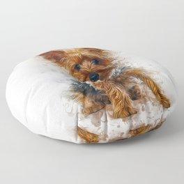 Yorkshire Terrier Art Floor Pillow