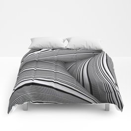 70's Black And White Craziness Comforters
