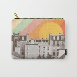 Rainbow Sky Above Paris Carry-All Pouch