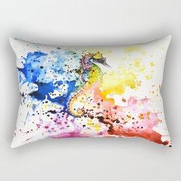 Underwater rainbow : the seahorse Rectangular Pillow