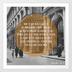 Ephesians 3:20-21 Art Print