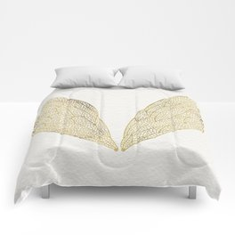 Cicada Wings in Gold Comforters