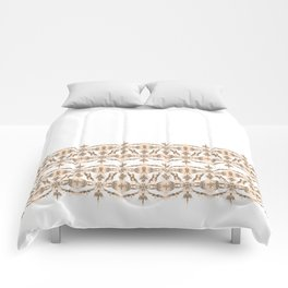 Kat Scratch Tribal Pattern • Peach & Taupe Comforters