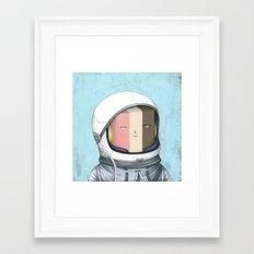 Ill Humored Ice Cream-Astronaut Ice Cream Framed Art Print