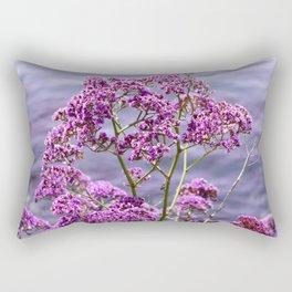 Nature photography Purple flower & sea Purple Dreams I Rectangular Pillow