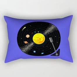 Solar System Vinyl Record Rectangular Pillow
