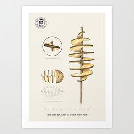 The Distinctive Tornado Potato Art Print