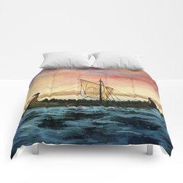 Drakkar, watercolor Comforters