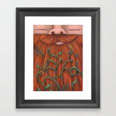 Rip Van Winkle with Vines Framed Art Print