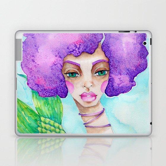 JennyMannoArt Watercolor Illustration/Mermaid Jenny Manno Laptop & iPad Skin