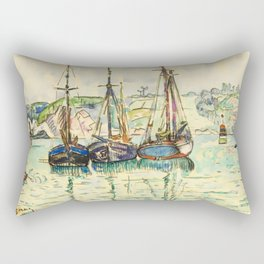 """Paul Signac """"Le Trieux"""" Rectangular Pillow"""
