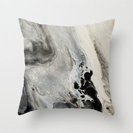 Abstract Acrylic Pour Painting Throw Pillow