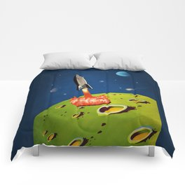 The World Of Outer Space Travel Comforters