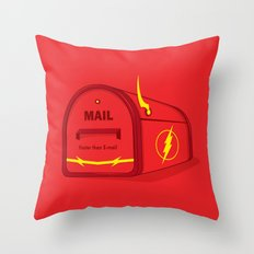 Faster than E-mail Throw Pillow