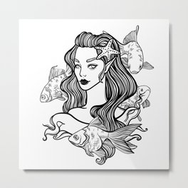 little princess mermaid Metal Print