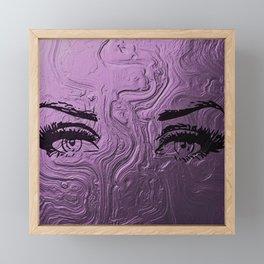 Super purple glam lashes Framed Mini Art Print