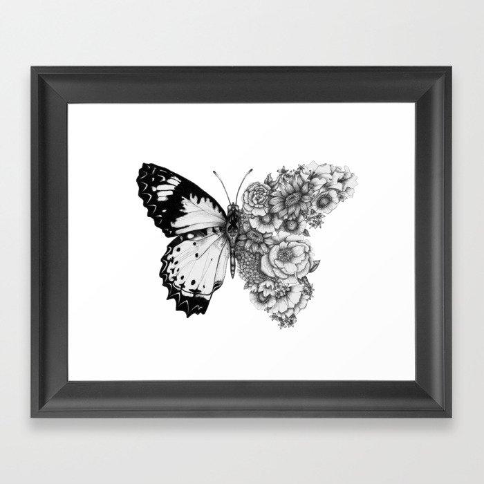 Butterfly in Bloom Gerahmter Kunstdruck