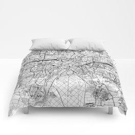 Munich White Map Comforters