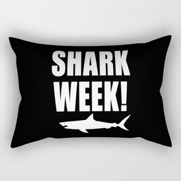 Shark week (on black) Rectangular Pillow