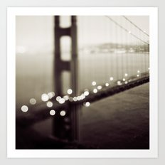 Meet Me In San Francisco (Black and White Edition)  Art Print