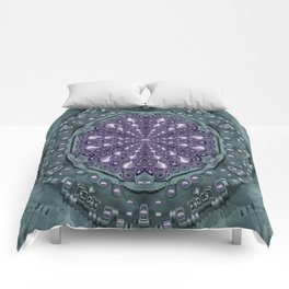 Star and flower mandala in wonderful colors Comforters
