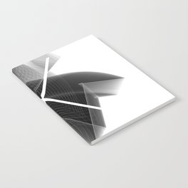 Typographic Treatment of the letter X. Dark Math X. Notebook
