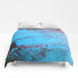 MEMORY MOSH - Glitch Art Print Comforters