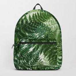 green big jungle leaves Backpack