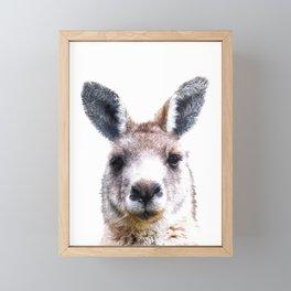 Kangaroo Portrait Framed Mini Art Print