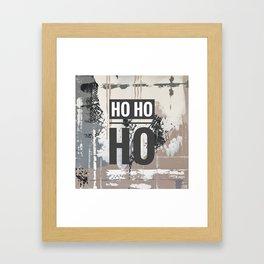 Snowfall - Ho Ho Ho Framed Art Print