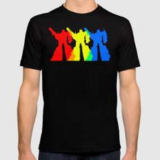 Optimus Prime Colors LARGE Black Mens Fitted Tee