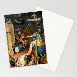 The Garden of Earthly Delights Bosch Hell Bird Man Stationery Cards