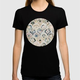 Art Deco Marble Tiles in Soft Pastels T-shirt