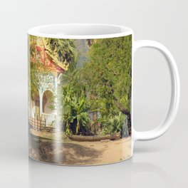 Buddhist Temple on the Mekong River Bank, Laos Coffee Mug