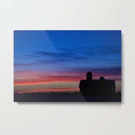Barn Sunset Metal Print