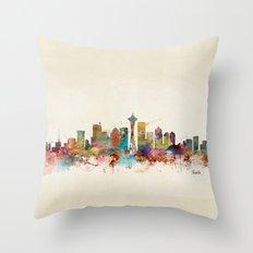 seattle washington  Throw Pillow