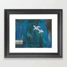 Diamond Flower Framed Art Print
