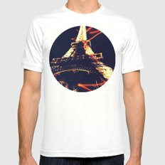 the Eiffel Tower MEDIUM White Mens Fitted Tee