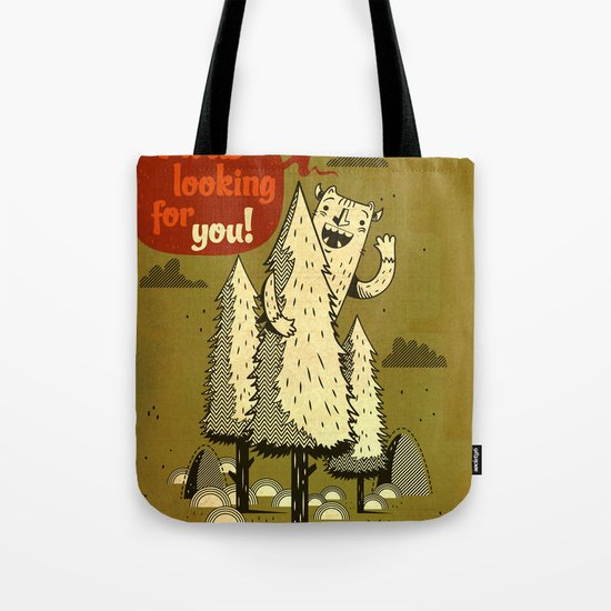 The Woods Monster. Tote Bag