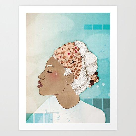 Feathery Turnings (I) Art Print