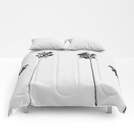 Black & White Palms Comforters