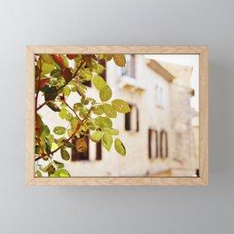 Village through wormholes - St Paul de Vence Framed Mini Art Print
