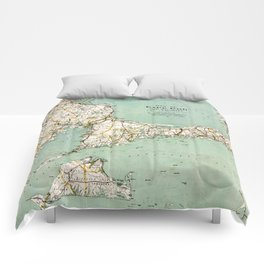 Cap Cod and Vicinity Map Comforters
